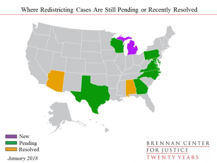 redistricing map