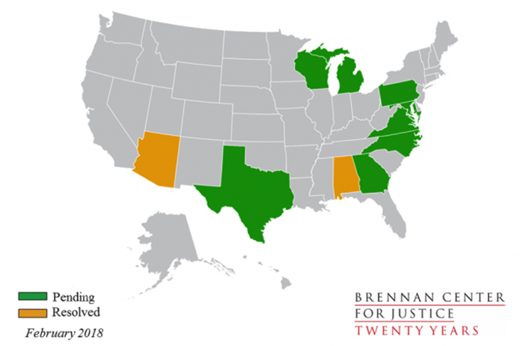 litigation states highlighted
