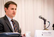 Andrew Hitt speaking during panel discussion