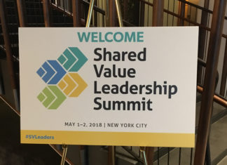 Shared Value Leadership Summit welcome sign
