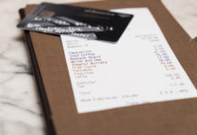Restaurant Bill with Credit Card