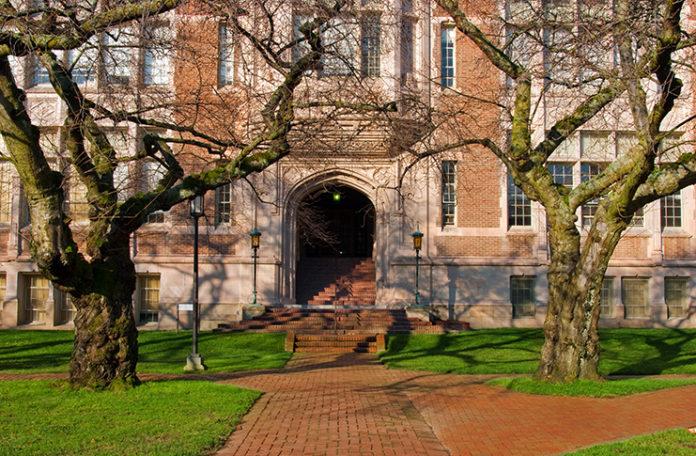 Red Brick Walkway In Front of School