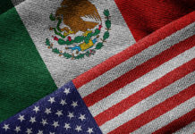 Mexican & American Flags